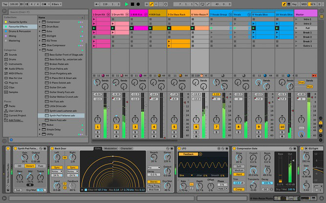 Ableton Live 10 Arrangement Image