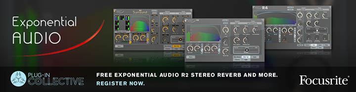 Free Focusrite Plug-in Collective offer - R2 Stereo Reverb plug-in