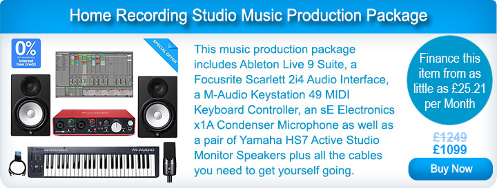 Home Recording Studio Music Production Package
