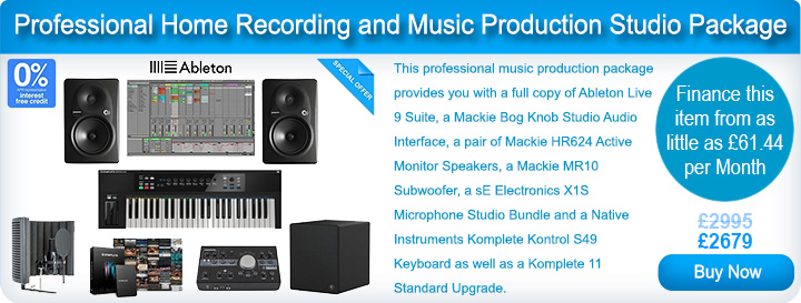 Professional Home Recording and Music Production Studio Package