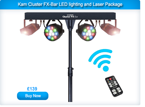 Kam Cluster FX-Bar LED lighting and Laser Package