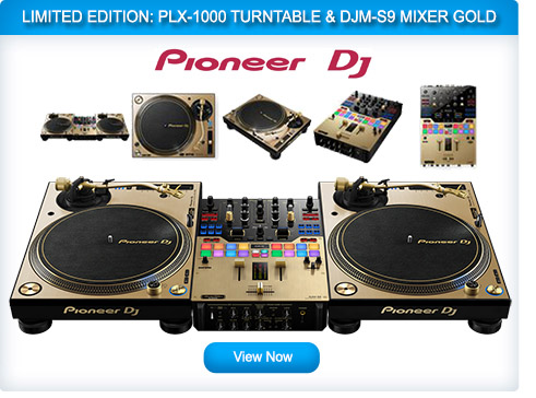 Pioneer PLX 1000 + DJM-S9 + HDJ1500 Limited Edition Gold Package