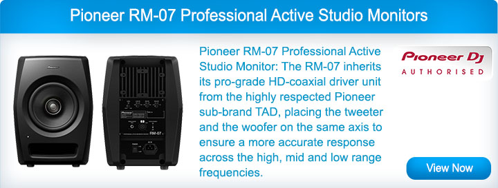 Pioneer RM-07 Professional Active Studio Monitors