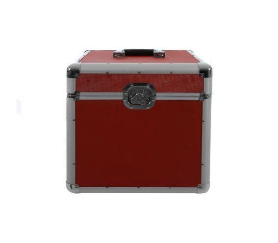 100 LP Flight case red
