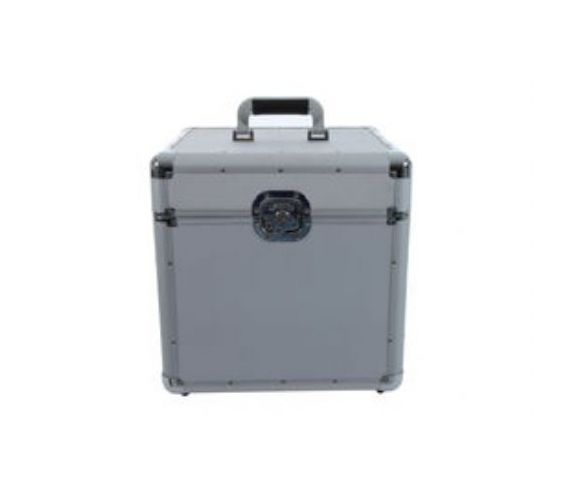 100 LP Flight case silver
