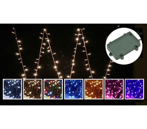 SKYTRONIC IN / OUTDOOR BATTERY STRING LIGHTS WITH AUTO-TIMER