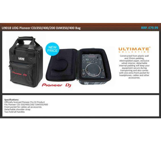 UDG U9018 Pioneer CDJ-350 and DJM-350 Bag