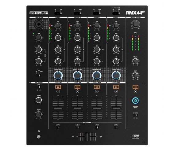 Reloop RMX-44 BT 4-channel Bluetooth Club DJ Mixer