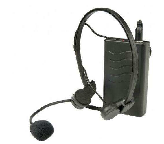 VHF WIRELESS TRANSMITTER WITH HEADSET MICROPHONE