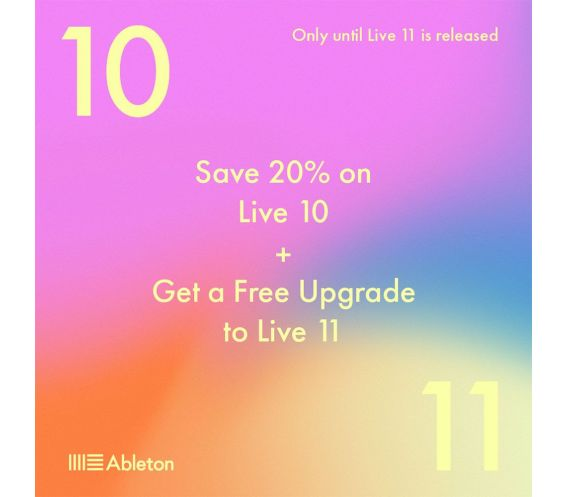 Ableton Live 10 Standard, UPG from Live Intro (Download Only)