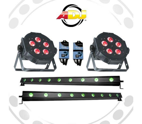 ADJ Mega Tri Par Can and Ultra-Bar 9H Lighting Equipment Package