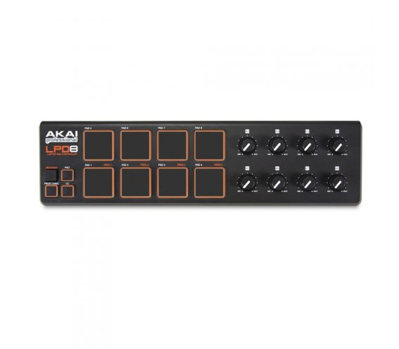 Akai LPD8 Portable Production Pad Top