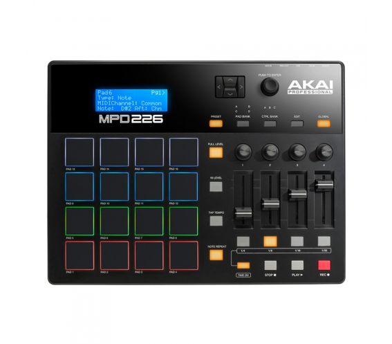 Akai MPD226 Pad Controller Top