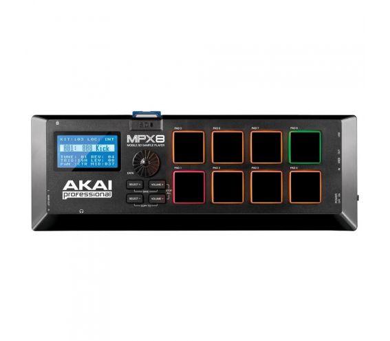 Akai MPX8 MIDI Controller Top