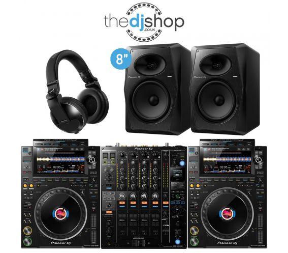 Pioneer CDJ-3000 DJ Player, DJM-900 DJ Mixer, VM-80 Speakers, HDJ-X10 Headphones