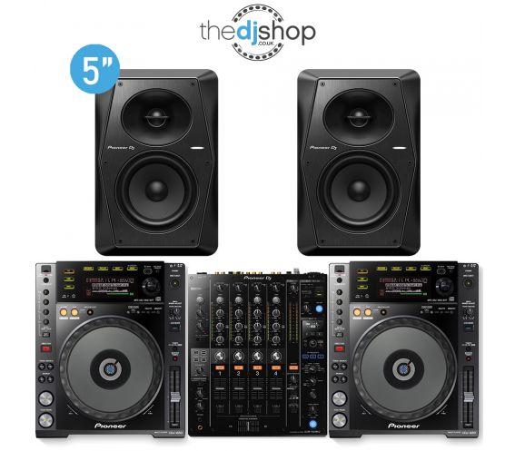 Pioneer CDJ-850K, DJM-750mk2 and S-DJ50X Pro DJ Package