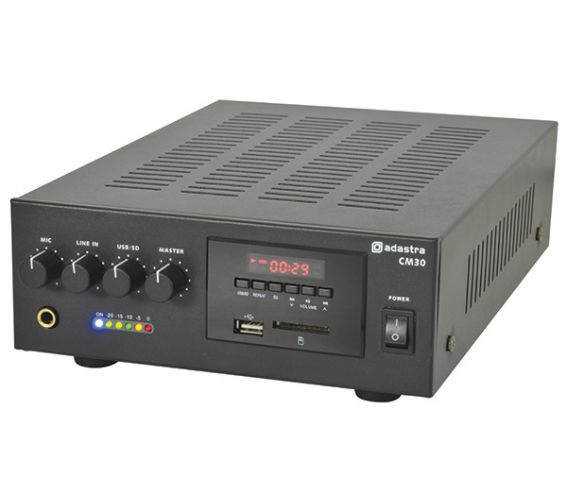 QTX CM-SERIES COMPACT 100V LINE MIXER-AMPLIFIERS 60W