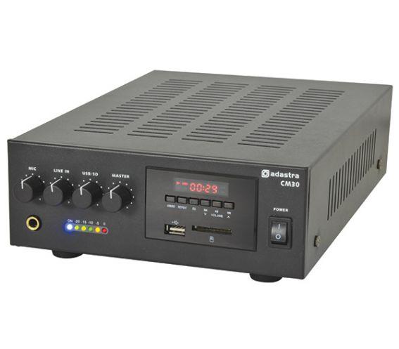QTX CM-SERIES COMPACT 100V LINE MIXER-AMPLIFIERS 30W