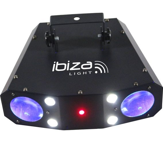 Ibiza Lights Moonflower-Strobe-Laser 3-in-1 Combination Lighting Effect