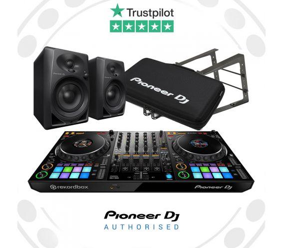 Pioneer DDJ-1000, DM-40 Speakers, Carry Bag and Laptop Stand Bundle