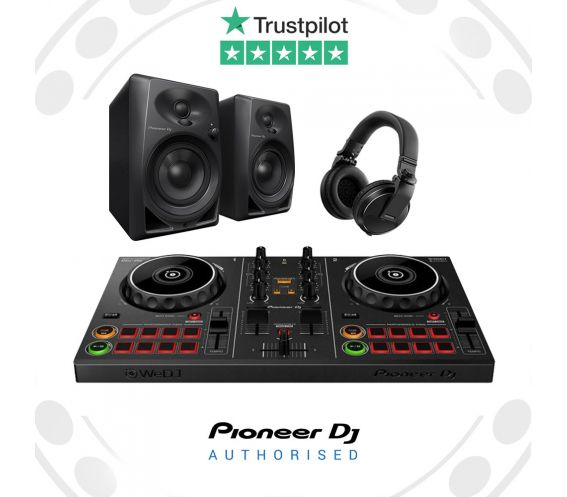 Pioneer DDJ-200 DJ Controller Bundle with DM-40s and HDJ-X5 Headphones