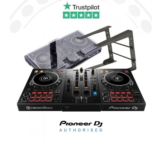 Pioneer DDJ-400, Decksaver Cover, Laptop and Stand Package Deal