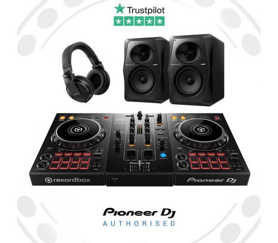 Pioneer DDJ-400, HDJ-X5 Headphones and VM-50 Speakers Complete DJ Equipment Package