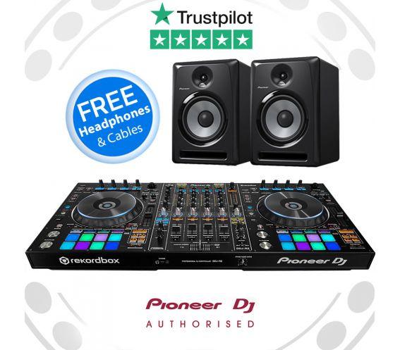 Pioneer DDJ-RZ, S-DJ80X DJ Speakers + FREE DJ HEADPHONES and AUDIO CABLES