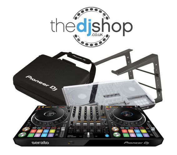 Pioneer DDJ-1000SRT, Laptop Stand, and Carry Bag