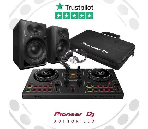 Pioneer DDJ-200, DM-40 Speakers, Carry Bag, and FREE Headphones Package Deal