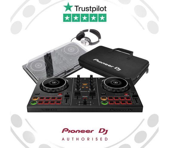 Pioneer DDJ-200, Decksaver, Carry Bag, and FREE Headphones Package Deal