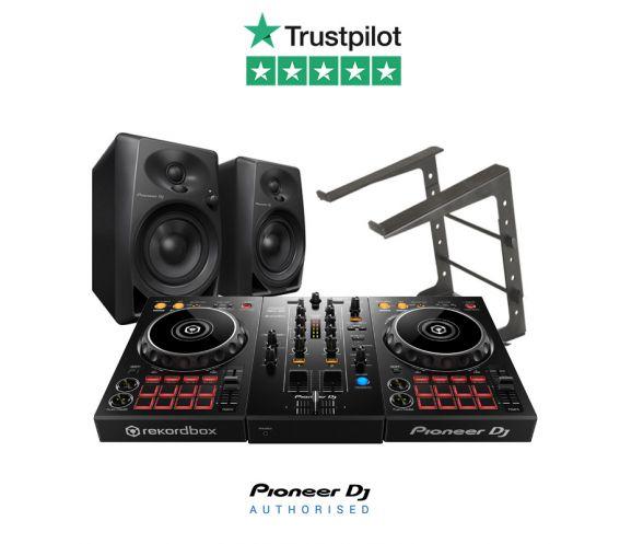 Pioneer DDJ-400, DM-40 Speakers and Laptop Stand DJ Package
