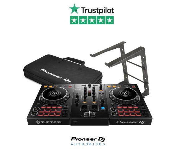 Pioneer DDJ-400, DJC Bag, Headphones, Laptop Stand Package Deal