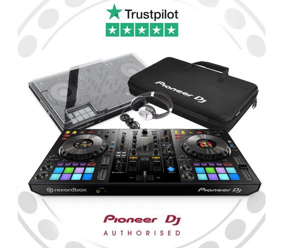 Pioneer DDJ-800, Decksaver, and Carry Bag w/FREE Headphones Package Deal