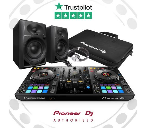 Pioneer DDJ-800, DM-40 Speakers, and Carry Bag w/FREE Headphones Package Deal