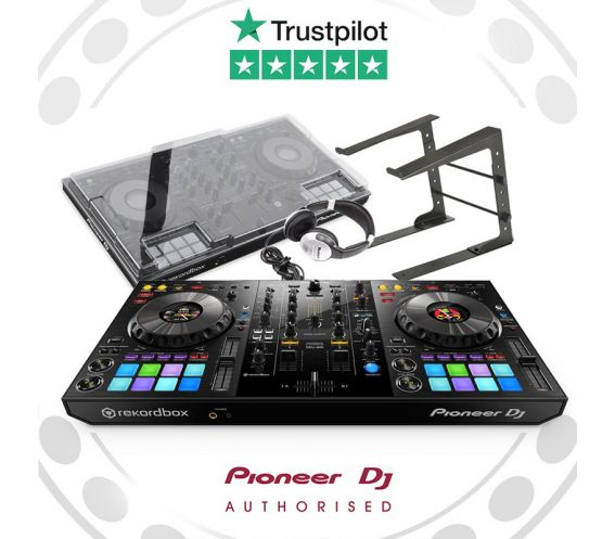 Pioneer DDJ-800, Decksaver, and Laptop Stand w/FREE Headphones Package Deal