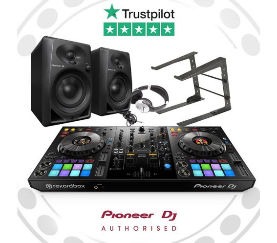 Pioneer DDJ-800, DM-40, and Laptop Stand w/FREE Headphones Package Deal