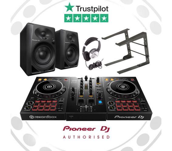 Pioneer DDJ-400, DM-40 Speakers, Laptop Stand, and FREE Headphones