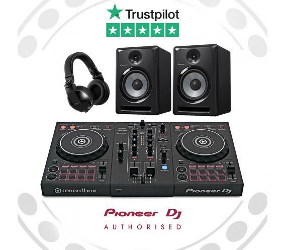 Pioneer DDJ-400 DJ Controller, HDJ-X5 Headphones, and S-DJ80X Speakers Complete DJ Equipment Package