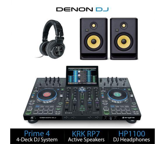 Denon DJ Prime 4 DJ Controller Package Deal