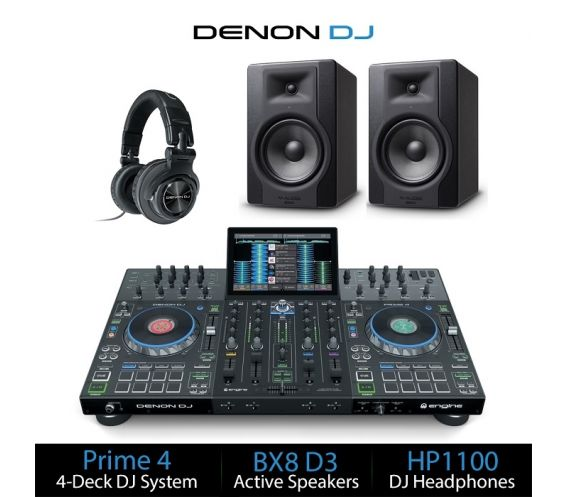 Denon DJ Prime 4 DJ Equipment Bundle Deal