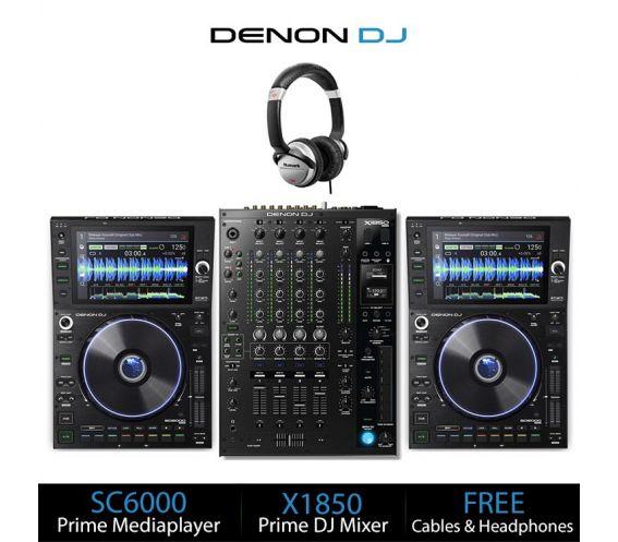 Denon DJ SC6000 & X1850 Prime DJ Equipment Bundle Deal