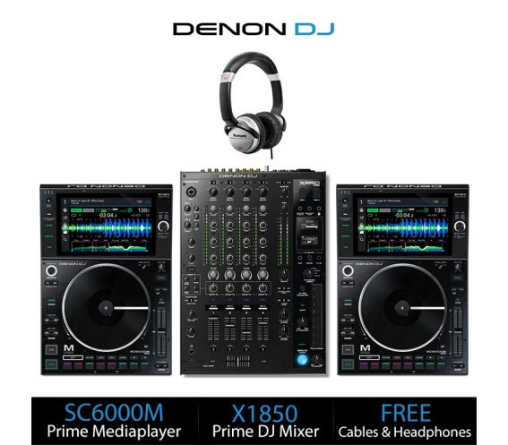 Denon DJ SC6000M Prime DJ Equipment Package Deal