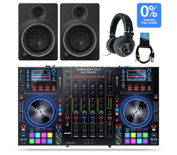 Denon MCX8000 - MR8 and HP1100 DJ Controller Package