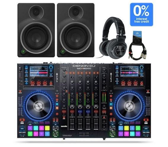 Denon MCX8000 - MR5 and HP1100 DJ Controller Package