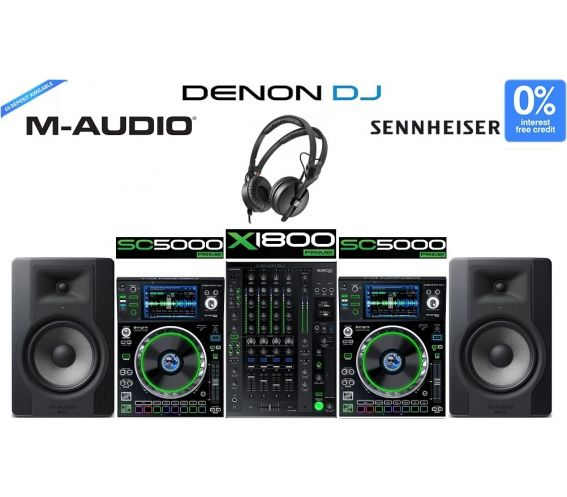 Denon DJ Prime Series Ultimate DJ Equipment Package