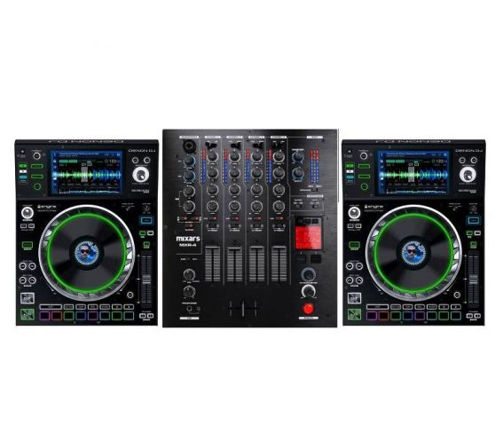 Denon DJ SC5000 Prime and Mixars MXR-4 DJ Equipment Package