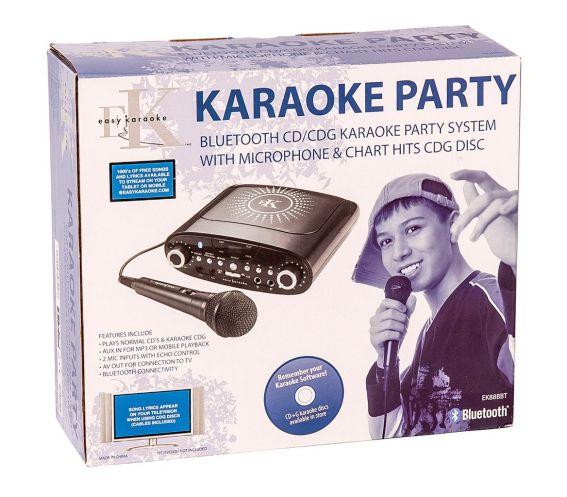 Easy Karaoke EKG88 Bluetooth® Karaoke Machine