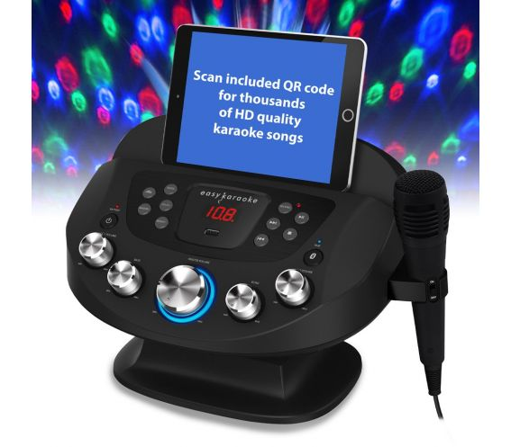 Easy Karaoke Smart System with Light Effects & Microphone
