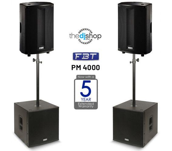 FBT ProMaxX PM 4000 Professional Active PA System Bundle